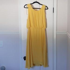 F21 flowy midi dress, yellow (XL)